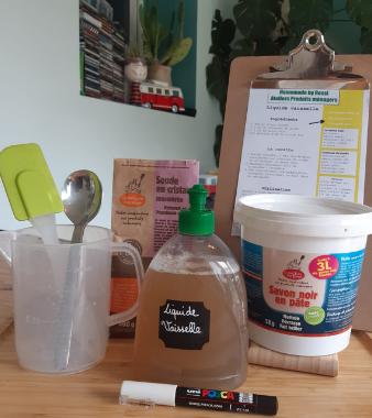 Atelier fabrication de liquide vaisselle